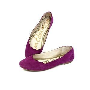 Sam Edelman Finnegan Purple Leather Flats